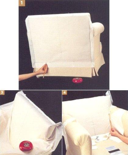 как сшить чехол для кресла