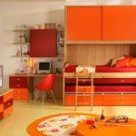 комната для двоих в апельсиновом цветы