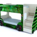 кровать автобус детская