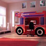 кровать-автобус с робочей зоной