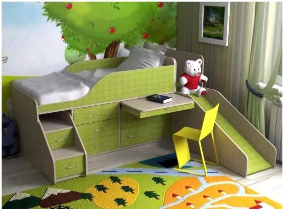 кровать-чердак для мальчиков