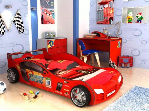 кровать гоночная машинка