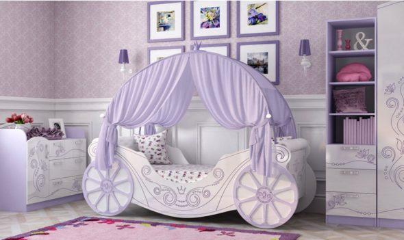 кровать карета