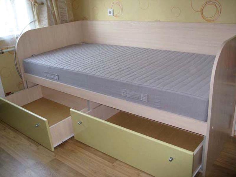 Как собрать кровать с ящиками своими руками фото 482