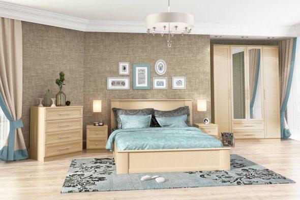 кровать юлианна в спальне