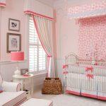 кроватка детская розовая