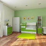 кроватка маятник зеленая