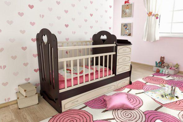 кроватка венге