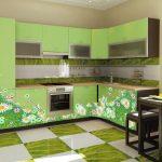 кухня в зелёных оттенках