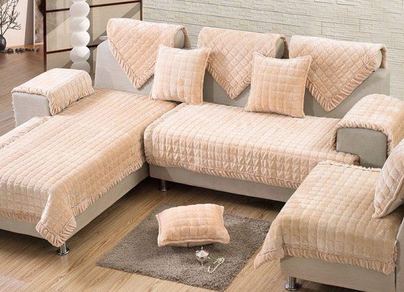 накидки на угловой диван