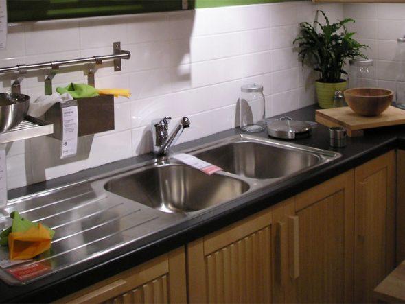 накладная раковина на кухне