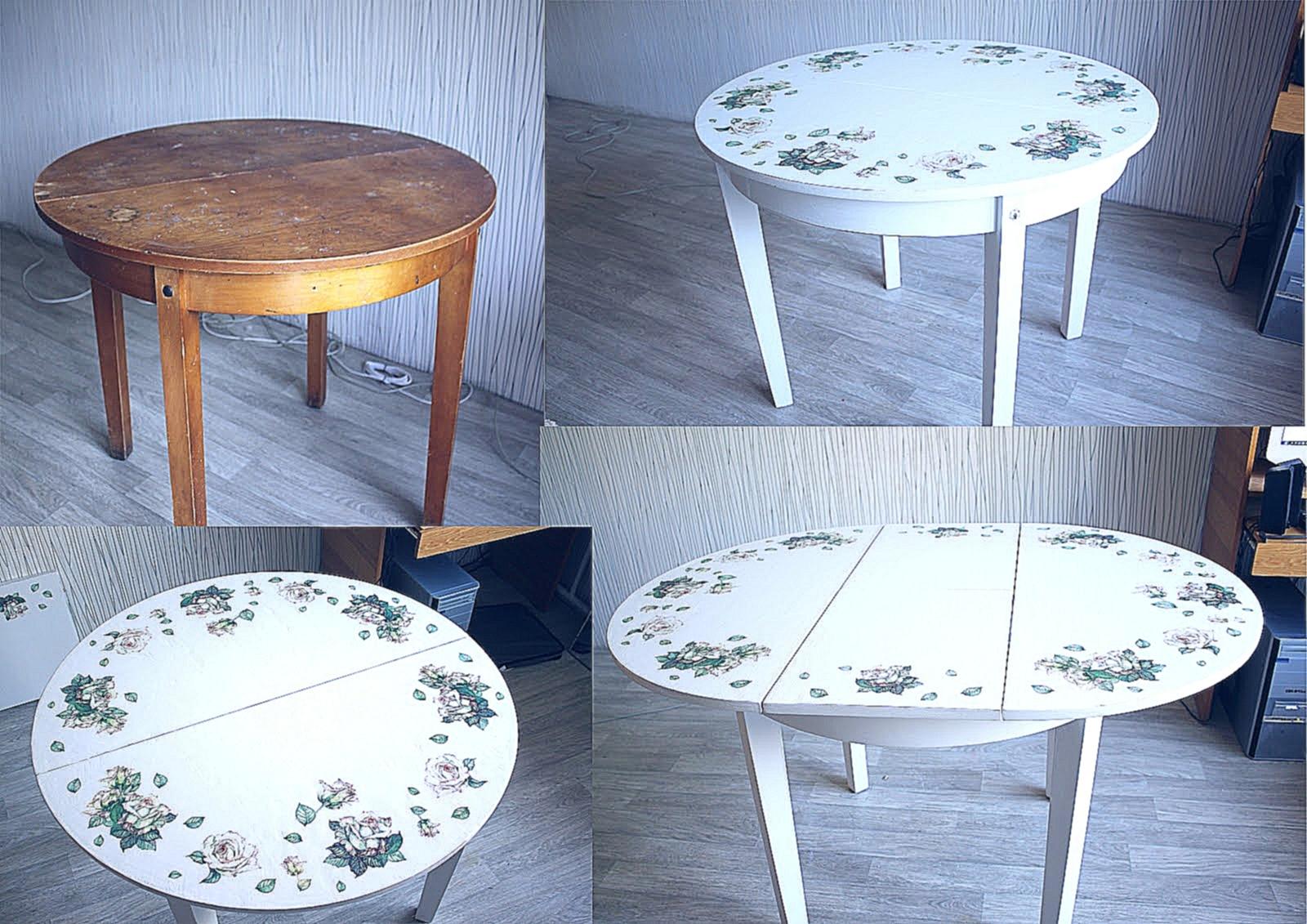 Декупаж стола для начинающих пошагово