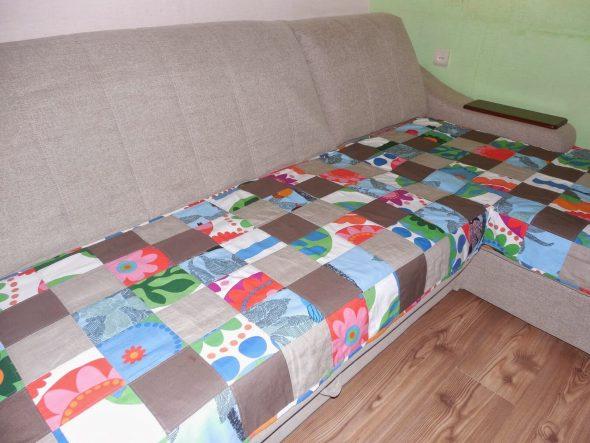 лоскутное покрывало на диван