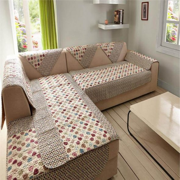накидки для угловых диванов своими руками материал и размеры