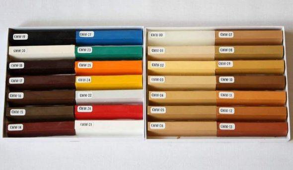 разноцветный воск