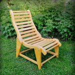 садовое кресло из дерева фото