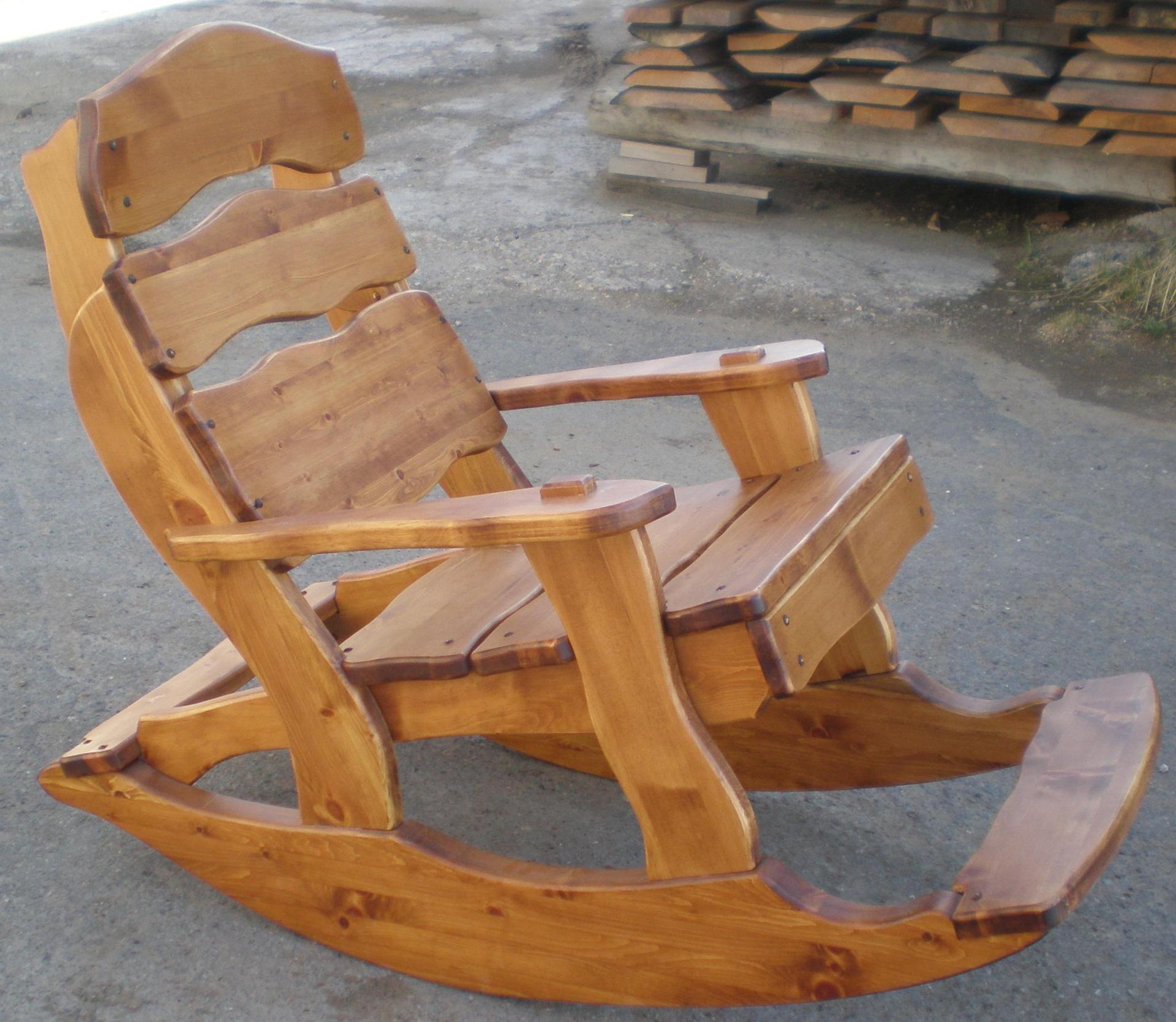 Кресло качалка сделать из дерева