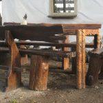 садовые скамьи и стол