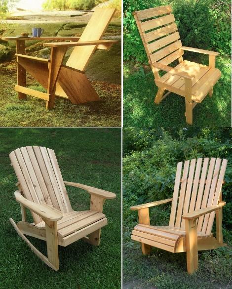 садовые кресла из дерева