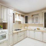 схема угловой кухни