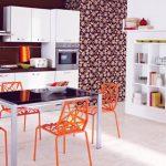 современный белый кухонный гарнитур