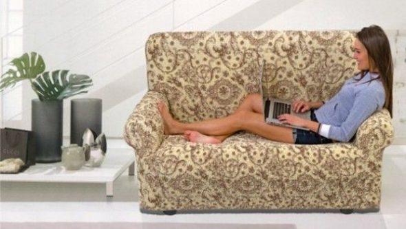 сшить чехол на диван