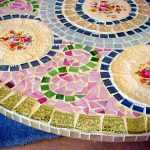 стол кухонный с мозаикой