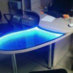 стол с эффектом бесконечности рабочий