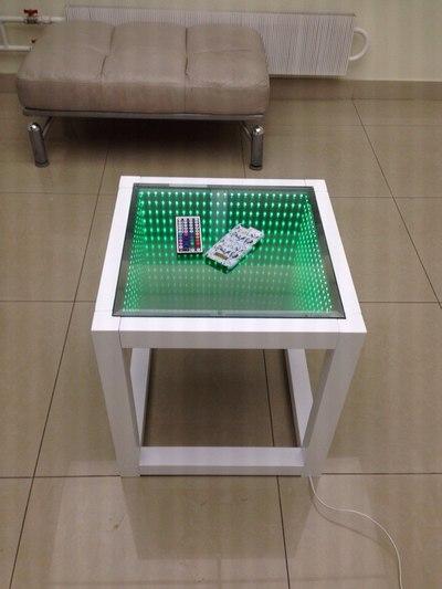 Как сделать стол с эффектом бесконечности своими руками 48