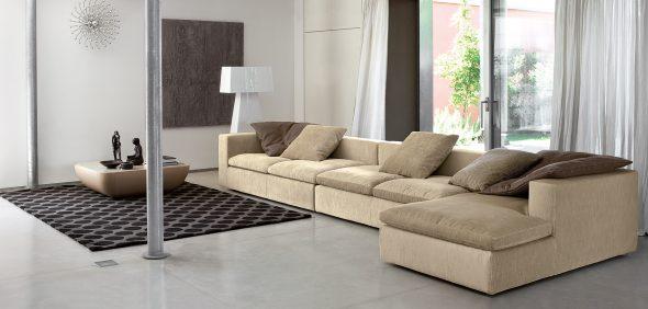 угловой диван замшевый