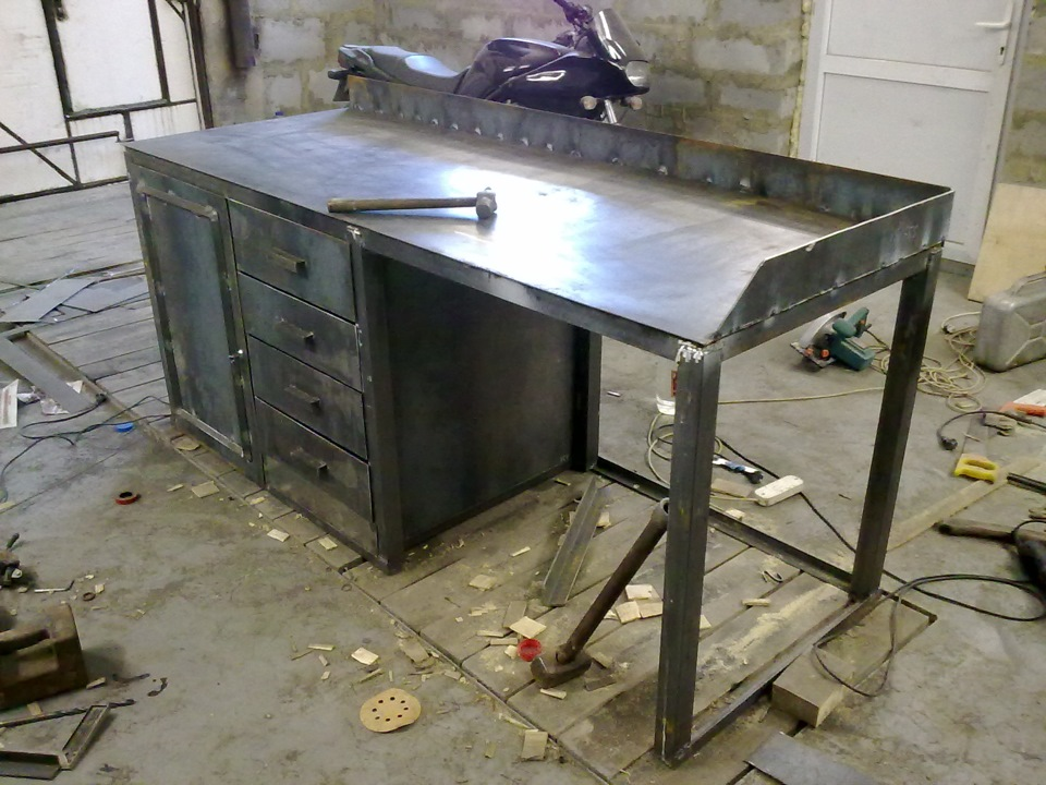 Стол верстак для гаража своими руками 955