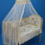 закрепить балдахин к детской кроватке