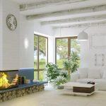 белая мебель в просторной гостиной