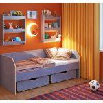 Детская кровать от 3 лет с ящиками