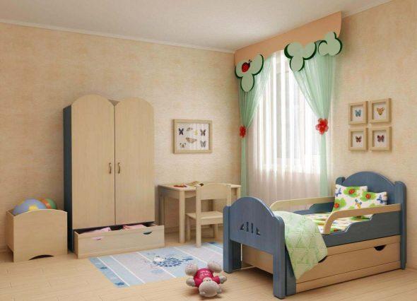 Детские кровати с бортиками в интерьере