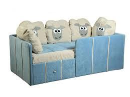 Детский диван-кровать с бортиками и ящиками