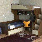 кровать чердак дерево