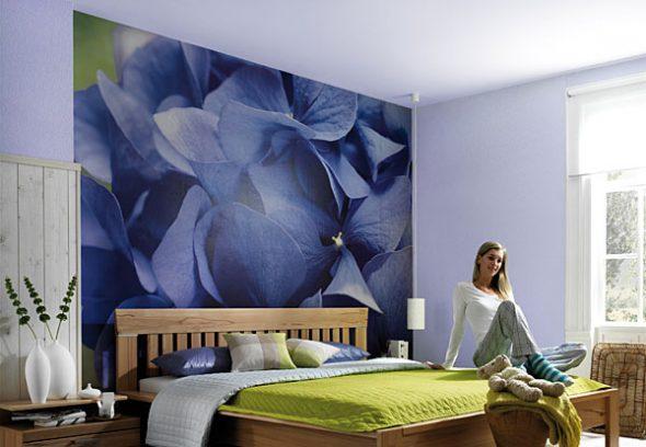 Фотообои за изголовьем кроватиФотообои за изголовьем кровати