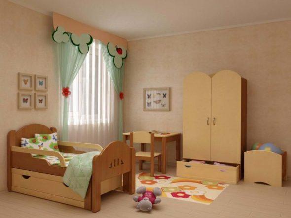 кровать с защитными бортиками