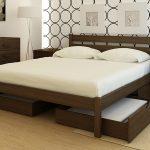 Ящики с боку кровати