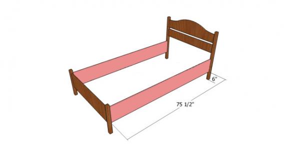 каркас детской кровати