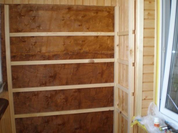 Как построить шкаф на балкон своими руками