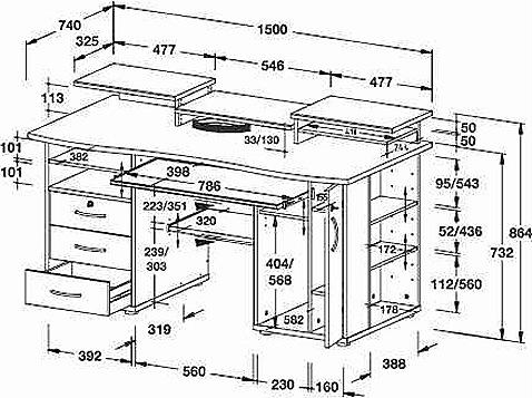 Компьютерный стол своими руками чертежи