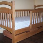 Кровать детская Карина Люкс с ящиками и бортиками