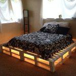 кровать из поддонов дизайн