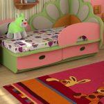 детская кровать с бортиками из дсп