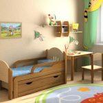 детская кровать с бортиками от 3 лет