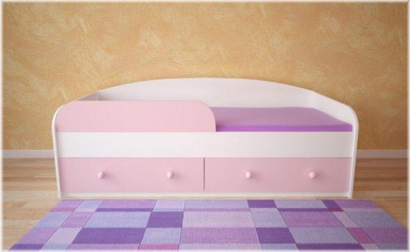 кровать розовая детская
