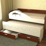 кровать дельфин двуспальная
