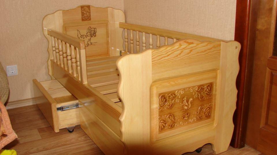 Кроватка деревянная своими руками